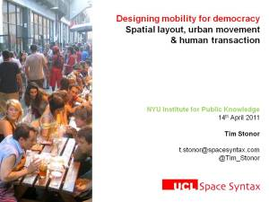 Spatial layout, urban movement & human transaction