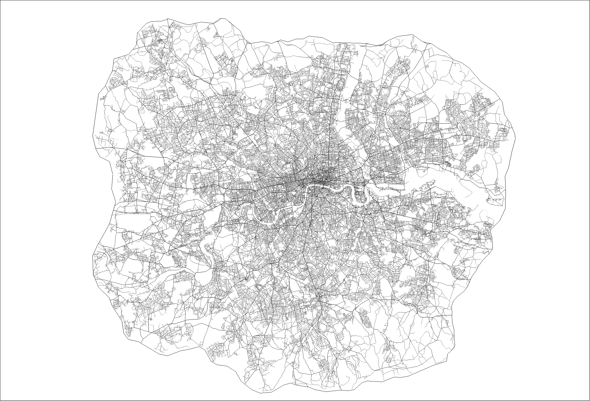 Londons Spatial Layout The Power Of The Network - London map png