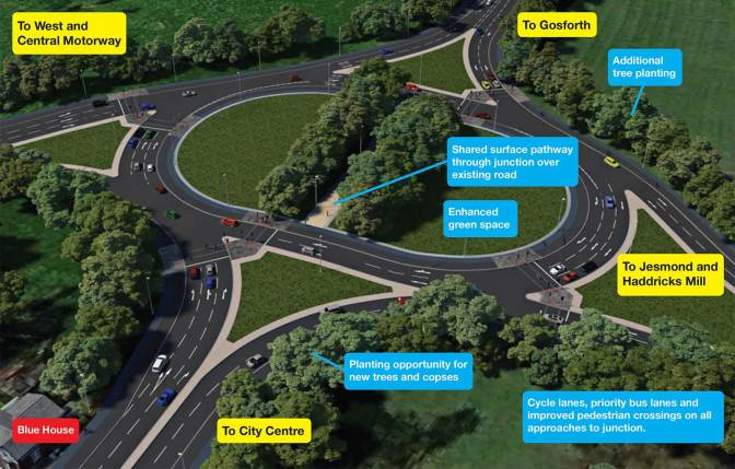 A velvet revolution for the Blue House roundabout – Newcastle City Council to think again