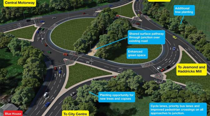 Backwards plans for Newcastle's Blue House Roundabout